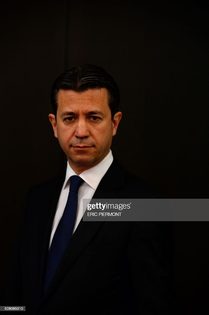 French state-owned electric utility company EDF former Chief Financial Officer Thomas Piquemal poses prior to his hearing by the Economic affairs commission in Paris on May 4, 2016. / AFP / ERIC