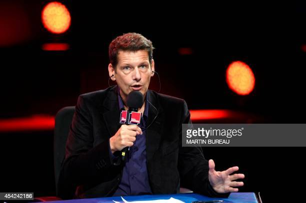 French stateowned radio station France Musique host Vincent Josse gives a press conference on August 27 2014 in Paris