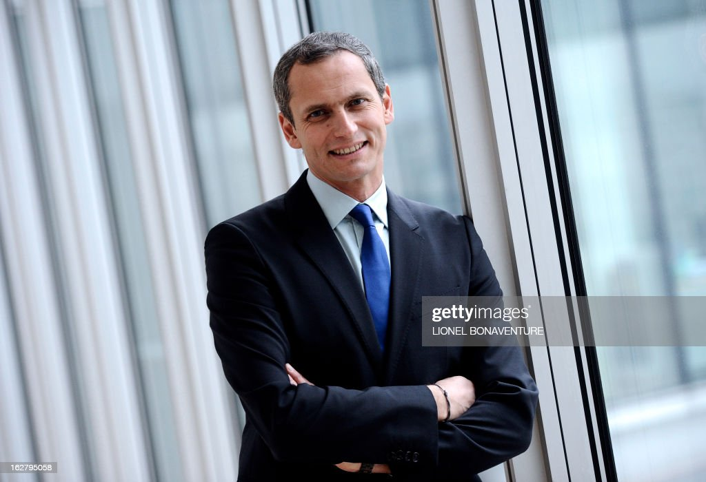 French state-run 'France 3' television channel's journalist and TV host, Louis Laforge poses on February 27, 2013 at the 'France Televisions' group's headquarters in Paris. AFP PHOTO LIONEL BONAVENTURE