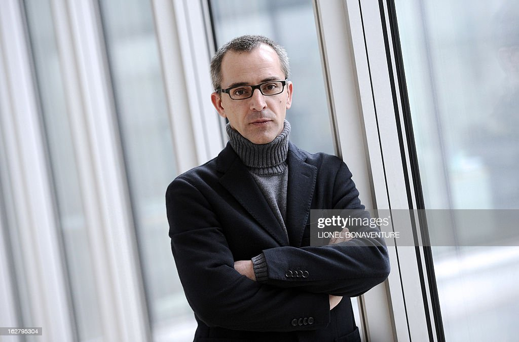 French state-run television group 'France Televisions' director of the programs for 'France 3' channel, Thierry Langlois poses on February 27, 2013 at the group's headquarters in Paris.