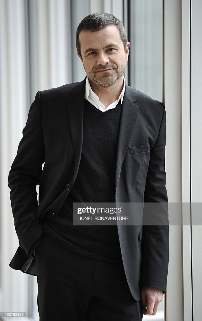 French state-run television group 'France Televisions' news director Thierry Thuillier poses on February 27, 2013 at the group's headquarters in Paris.
