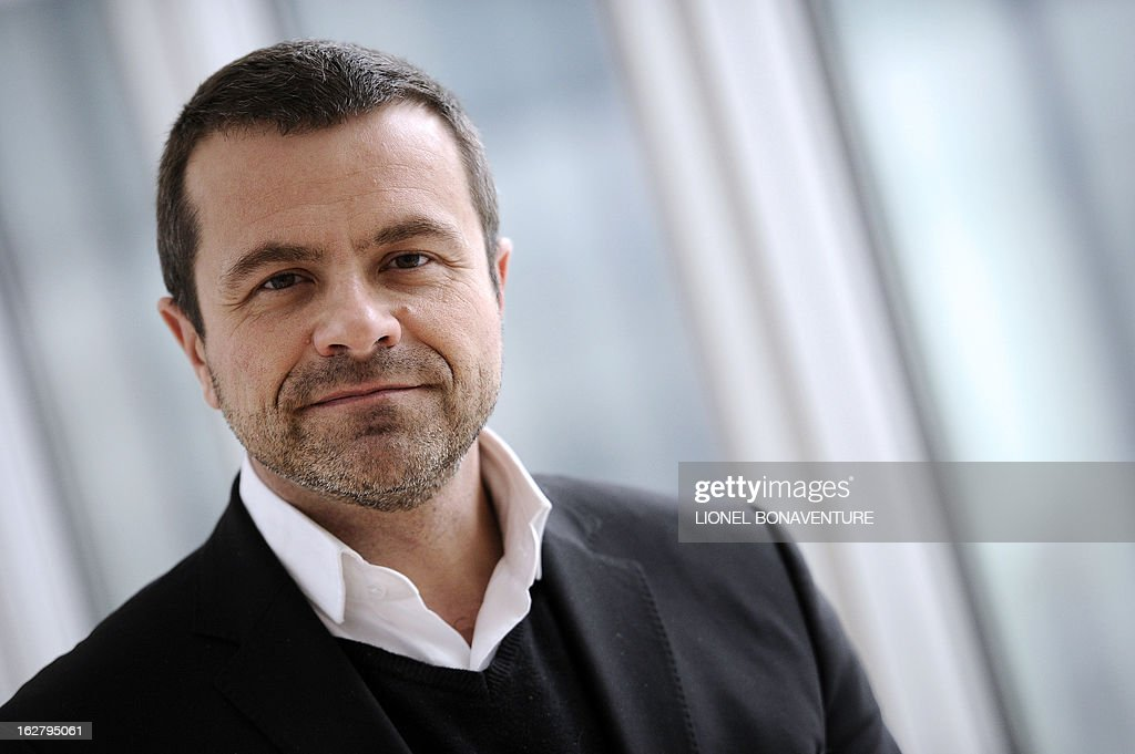 French state-run television group 'France Televisions' news director Thierry Thuillier poses on February 27, 2013 at the group's headquarters in Paris. AFP PHOTO LIONEL BONAVENTURE