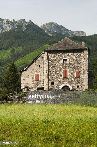 French Stone Farmhouse Stock Photo
