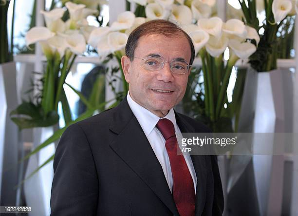 French supermarket and retail group Casino Chairman and CEO JeanCharles Naouri is pictured as he leaves the presentation of the group's 2012 results...