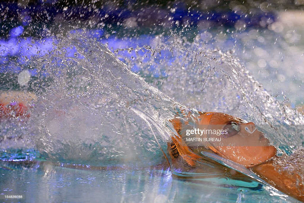 French swimmer Laure Manaudou competes during the 2012 Autumn Swimming meeting on October 27, 2012 in Compiegne, north of Paris. French swimmer Laure Manaudou, the Olympic 400m freestyle champion at the 2004 Athens Games, will retire for a second time after next month's European Championships, the Le Courrier Picard newspaper reported.