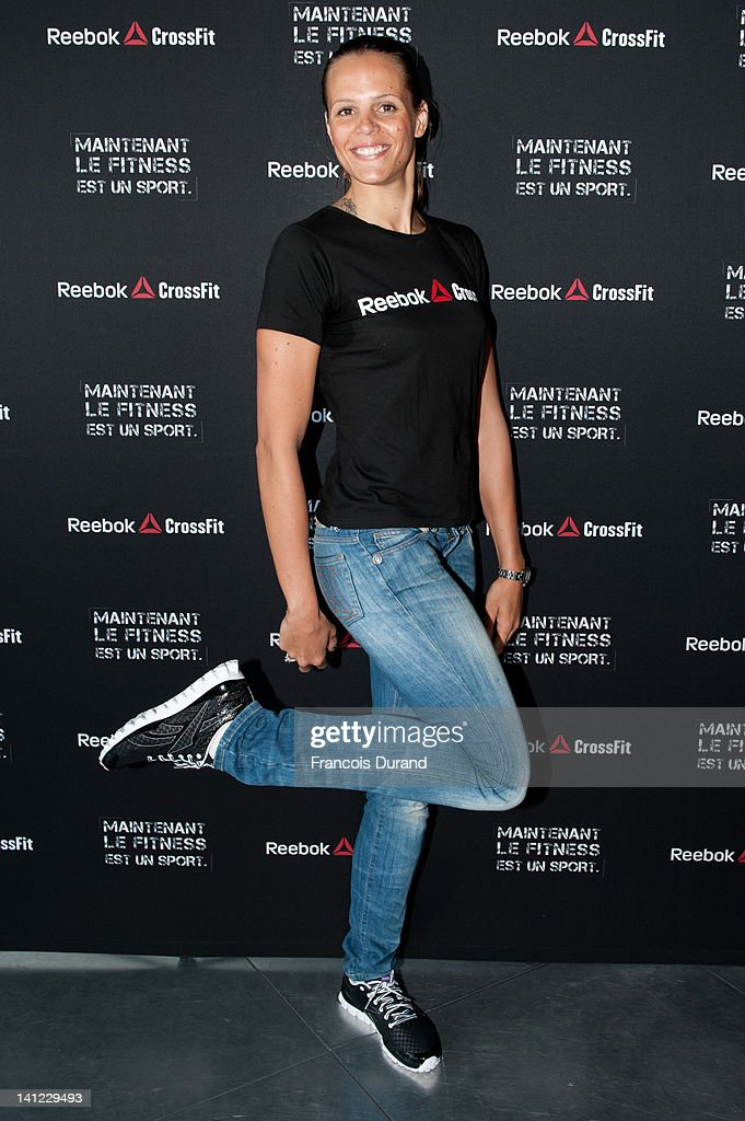 French swimmer Laure Manaudou helps to launch Reebok's The Sport Of Fitness campaign on March 12 2012 in Paris France The threetime Olympic medallist...