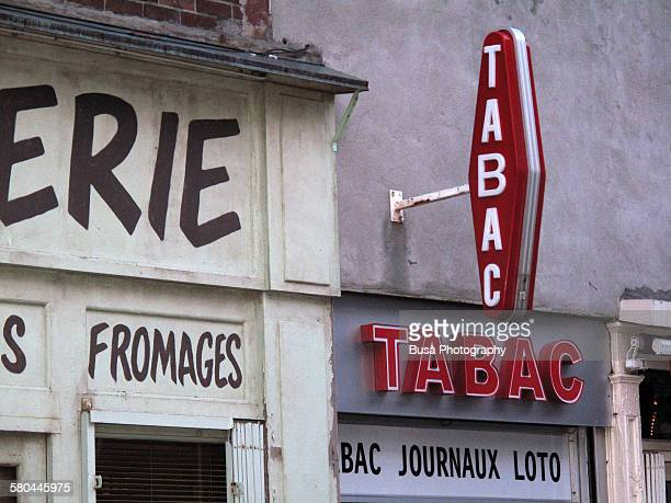 French tabac shop sign in New York City