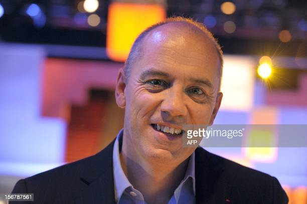 French telecom group OrangeFrance Telecom CEO Stephane Richard arrives for a press conference to unveil telecom provider Orange latest innovations on...
