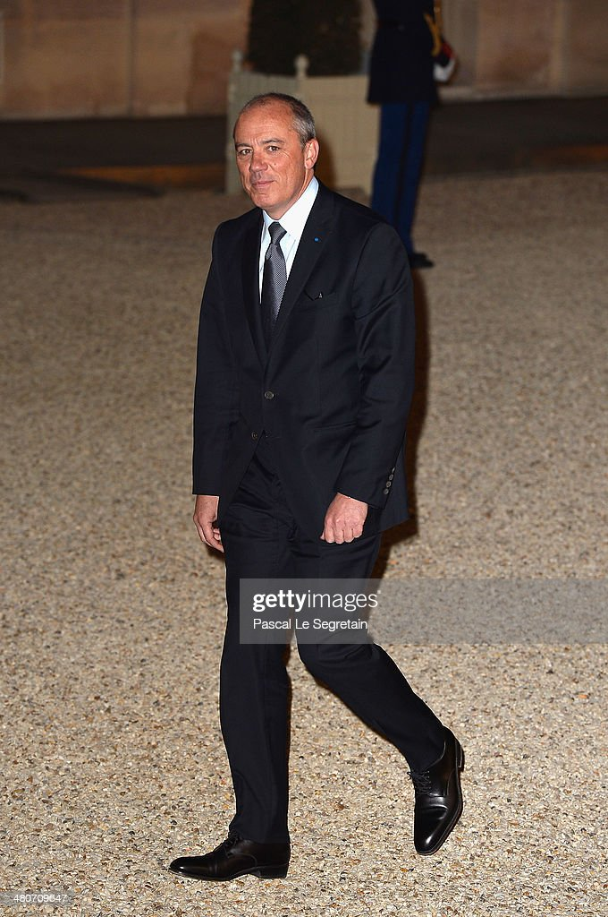 French telecoms group Orange's CEO Stephane Richard arrives at the Elysee Palace for an official dinner hosted by French President Francois Hollande as part of a two days State visit of the Chinese President Xi Jinping on March 26, 2014 in Paris, France.