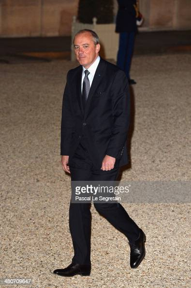 French telecoms group Orange's CEO Stephane Richard arrives at the Elysee Palace for an official dinner hosted by French President Francois Hollande...