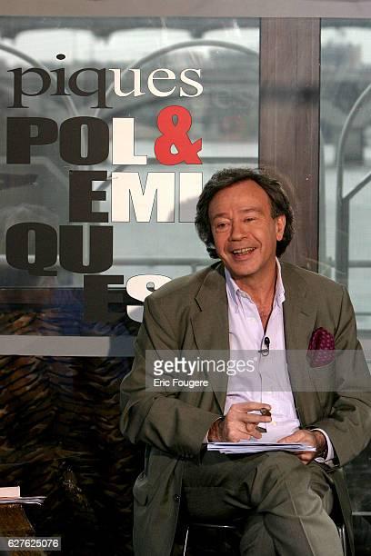 French television presenter of the debate 'Piques et Polémiques' on France 3 Paul Wermus