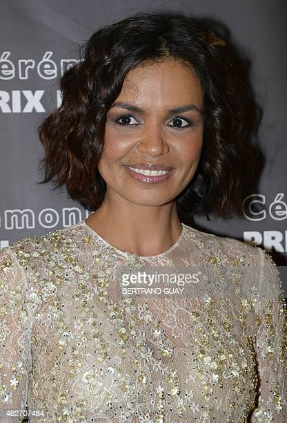 French television show host Laurence Roustandjee poses as she arrives for the 20th Lumieres awards ceremony on February 2 2015 in Paris AFP PHOTO /...