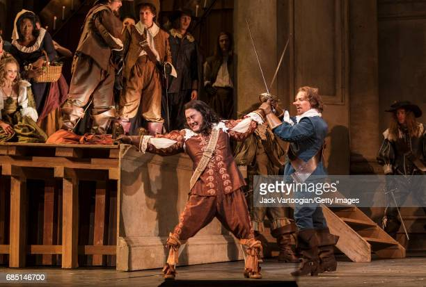French tenor Roberto Alagna and various cast members perform at the final dress rehearsal prior to the season premiere of the Metropolitan...