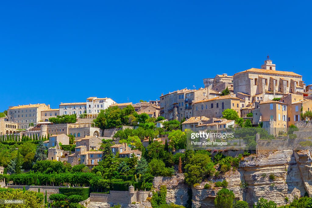 French town of Gordes in Provence, France : Stock Photo