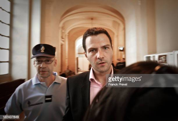 French trader Jerome Kerviel accused of unauthorised deals which cost French bank Societe Generale 49 billion Euros attends the penultimate day of...