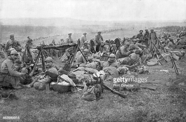 French troops at rest Verdun France 1916 The Battle of Verdun was the longest and one of the bloodiest of the First World War The Germans began their...