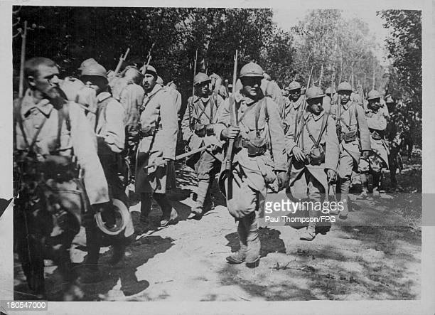 French troops following the Battle of Verdun during the First World War France FebruaryDecember1916