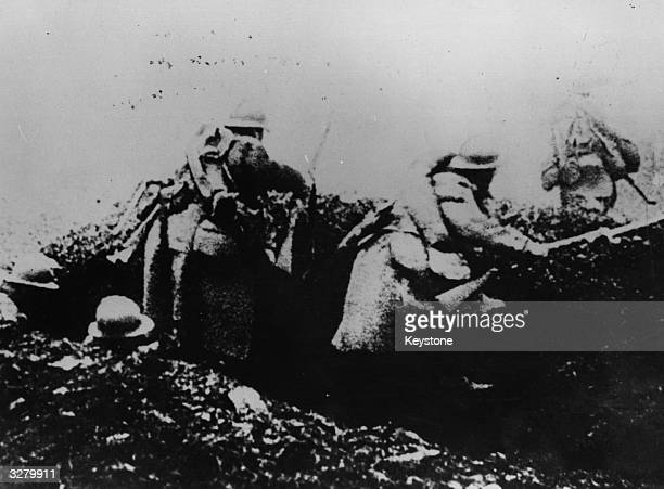 French troops going ' over the top' during the Battle of Verdun