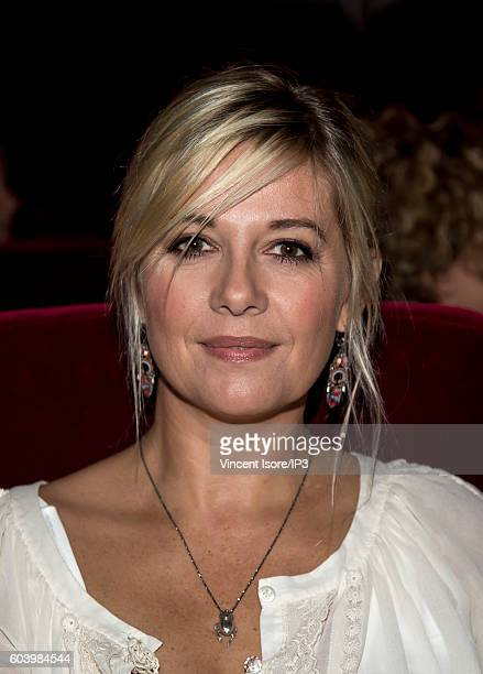 French TV host and radio Flavie Flament attends a press conference of RTL radio which announces its 2016/2017 schedule on September 7 2016 in Paris...