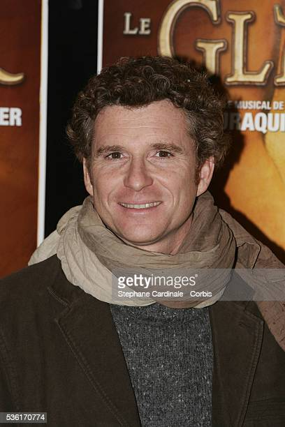 French TV host Denis Brogniart attends the premiere of the show 'Gladiateur' directed by Elie Chouraqui at the Palais des Sports
