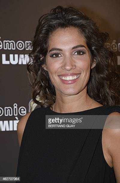 French TV host Laurie Cholewa poses as he arrives for the 20th Lumieres awards ceremony on February 2 2015 in Paris AFP PHOTO / BERTRAND GUAY