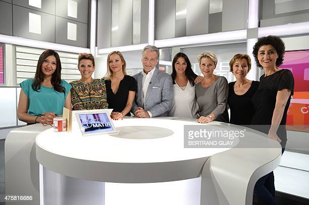 French TV host of the public media group France Television William Leymergie poses for a photo on June 4 in Paris on the set of Tele Matin a...