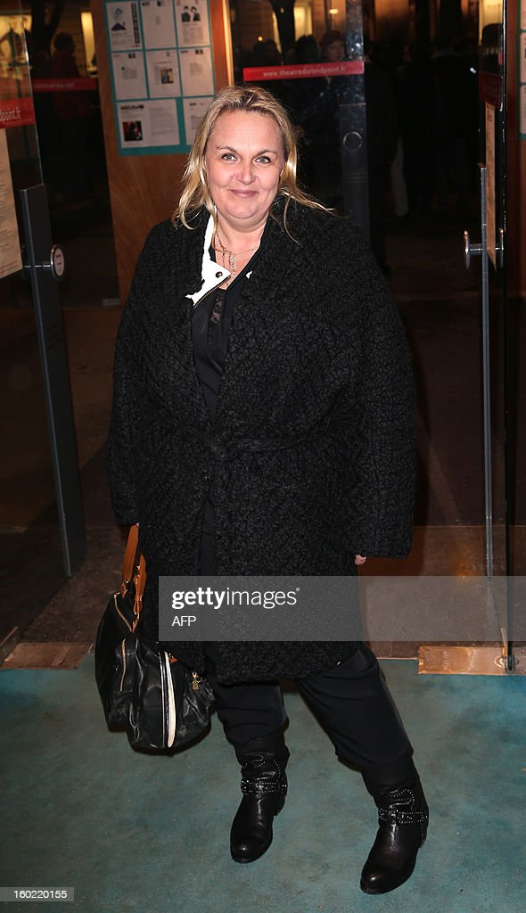 French TV host Valerie Damidot arrives for a special event gathering artists and celebrities in support of French government plans to legalise gay marriage and same-sex adoption on January 27, 2013 in Paris, two days before parliament takes up the text, which has been met with strong opposition from the right and the Catholic Church.
