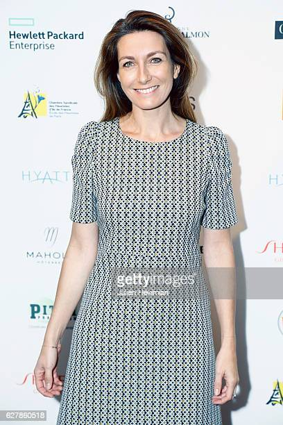 French TV Presenter Anne Claire Coudray attends the 'Prix De La Femme D'Influence De L'Annee' Award Ceremony At Hyatt Regency Paris Etoile In Paris...