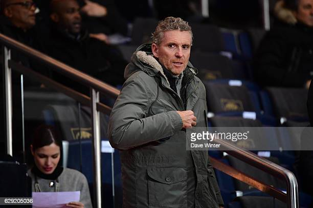 French tv presenter Denis Brogniart during the French Ligue 1 match between Paris Saint Germain and Nice at Parc des Princes on December 11 2016 in...