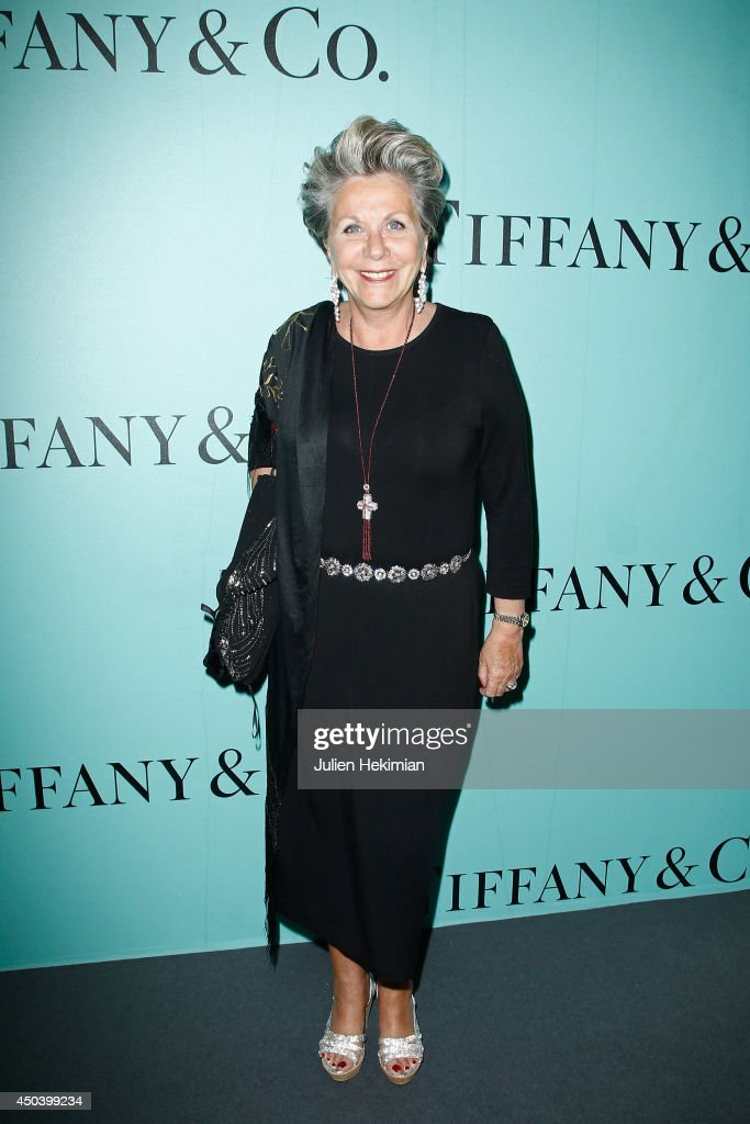 French TV presenter <a gi-track='captionPersonalityLinkClicked' href=/galleries/search?phrase=Francoise+Laborde&family=editorial&specificpeople=781981 ng-click='$event.stopPropagation()'>Francoise Laborde</a> attends the Tiffany & Co Flagship Opening on the Champs Elysee on June 10, 2014 in Paris, France.