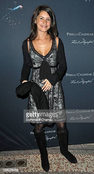 French TV presenter Marion Jolles attends the Pirelli 2011 Calendar lauch at Le Mini Palais on January 13 2011 in Paris France