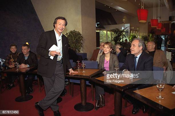 French TV presenter Paul Wermus with former mayor of Paris Jean Tiberi