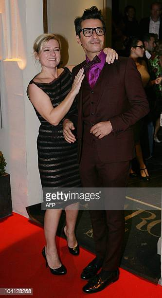 French TV presenters Ariel Wizman and Anne Elisabeth Lemoine look on as they attend the Canal TV party to celebrate the launch of the 20102011 season...