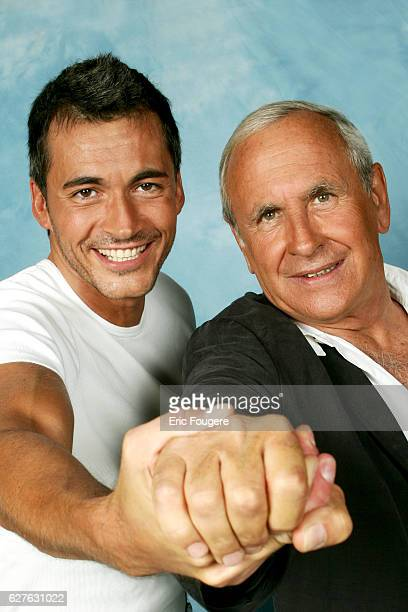 French TV presenters Patrice Laffont and Olivier Minne