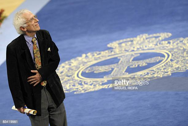French Tzvetan Todorov receives the Prince of Asturias Award Laureate for Social Sciences from Spain's Prince Felipe during a ceremony at the...