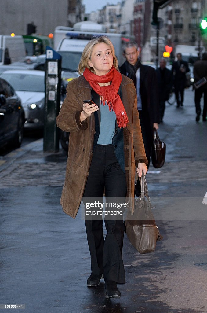 French UMP opposition right-wing party member Valerie Pecresse arrives to attend a meeting of the UMP political committee, at the party headquarters on December 19, 2012 in Paris. UMP President Jean-Francois Cope and former Prime Minister Francois Fillon, the rivals in the leadership row which split French former ruling party, the UMP, agreed on December 17, 2012 to a new internal election after a bitterly-contested first vote last month. Kosciusko-Morizet launched on November 14, 2012, her movement 'La France droite' (France right). AFP PHOTO /ERIC FEFERBERG