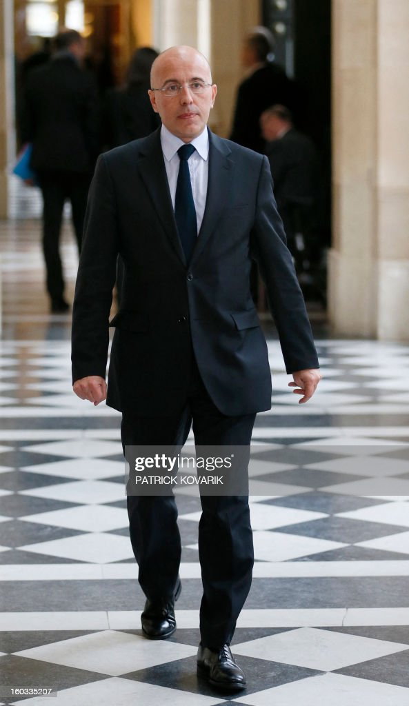 French UMP opposition right-wing party MP Eric Ciotti arrives at the National Assembly to attend the weekly session of questions to the government on January 29, 2013 in Paris.