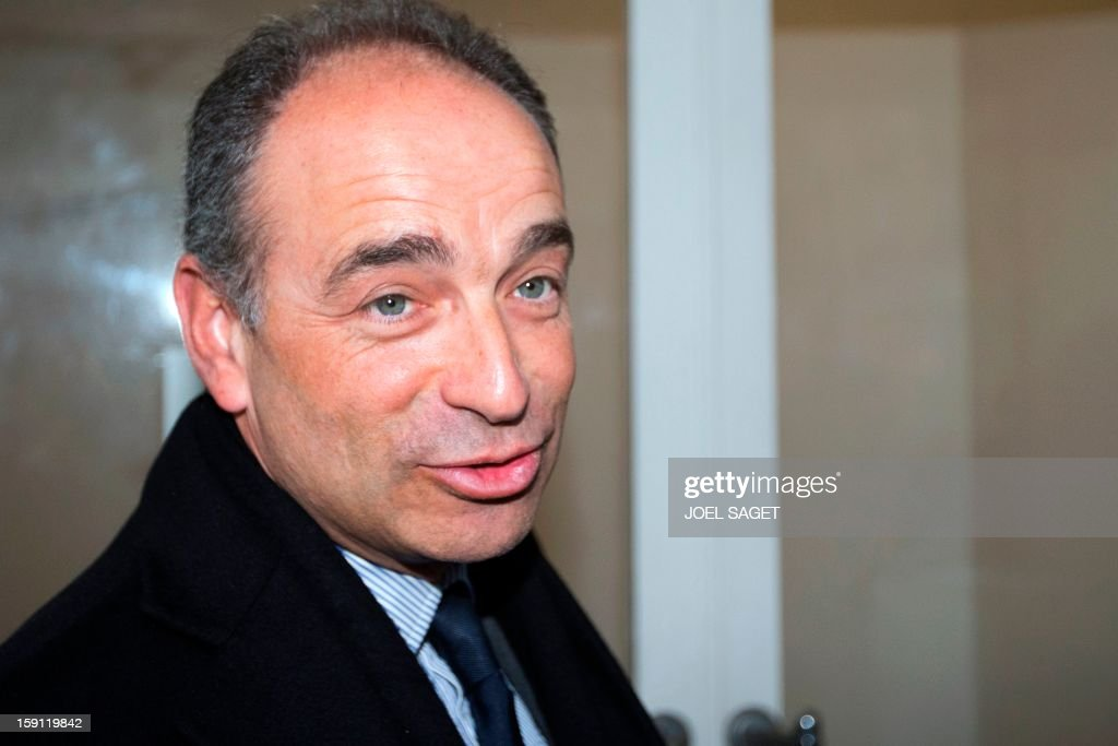 French UMP opposition right-wing party President Jean-Francois Cope arrives on January 8,2013, for a meeting with the French Council of the Muslim Faith (Conseil Français du Culte Musulman, CFCM) at the headquarters of the institution in Paris. CFCM sued Cope following his declaration on October 5, 2012 in Draguignan, southern France, about a boy who allegedly had his 'pain au chocolat' (French pastries) stolen by other young people during the fasting month of Ramadan SAGET
