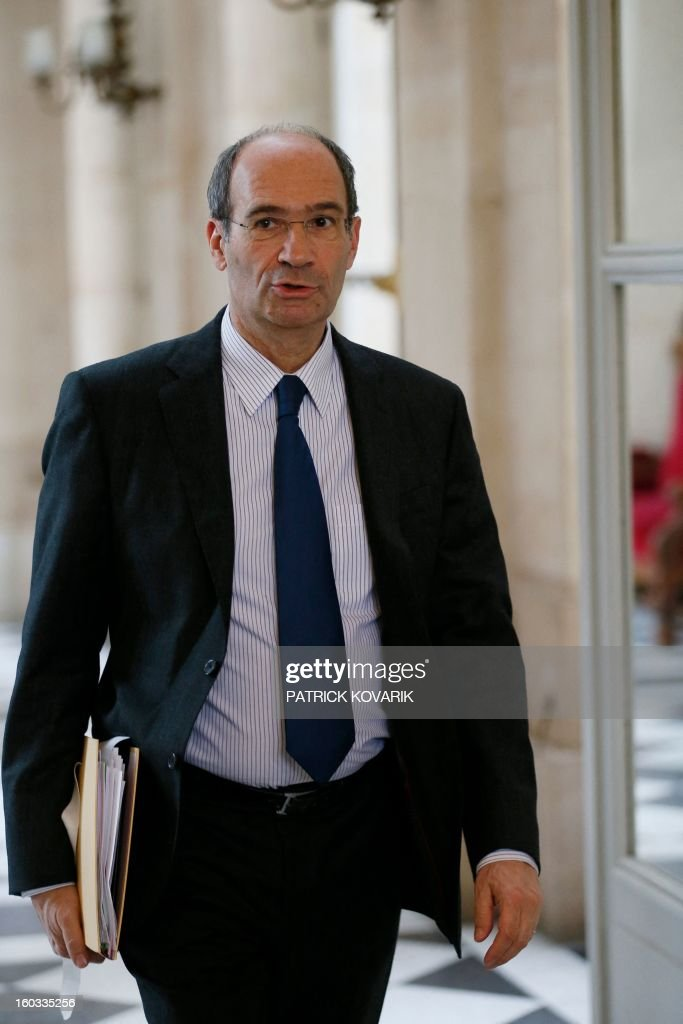 French UMP opposition right-wing party's former Minister Eric Woerth arrives at the National Assembly to attend the weekly session of questions to the government on January 29, 2013 in Paris.