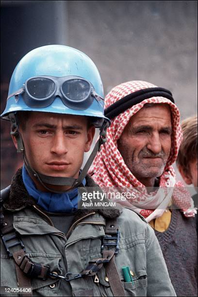 French UN blue helmets in South Lebanon in March 1978