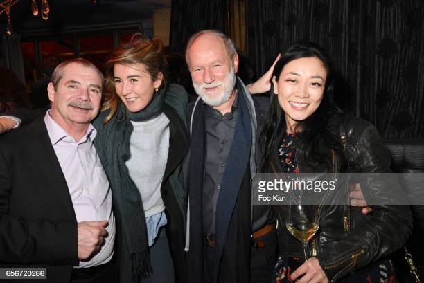 French Vegetable producer President Jacques Rouchausse actress/screenwriter Anais Aidoud Interfel President Bruno Dupont and Malika Lambert attend...