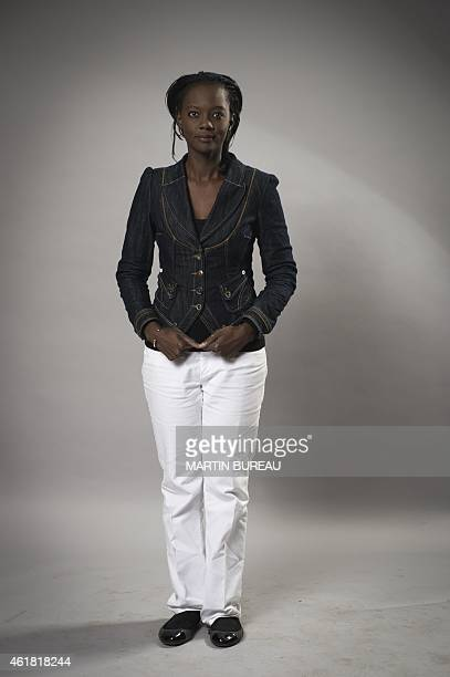 French vicepresident of the centrist Radical Party Rama Yade poses on January 19 2015 in Paris during a photocall for the 70th anniversary of the...