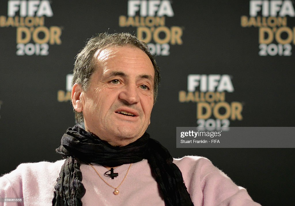 French women's national team coach Bruno Bini is interviewed prior to the FIFA Ballon d'Or Gala 2012 at the Kongresshaus on January 7, 2013 in Zurich, Switzerland.
