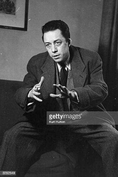 French writer Albert Camus who was awarded the Nobel Prize for literature in 1957 and died in a car crash Original Publication Picture Post 6297...