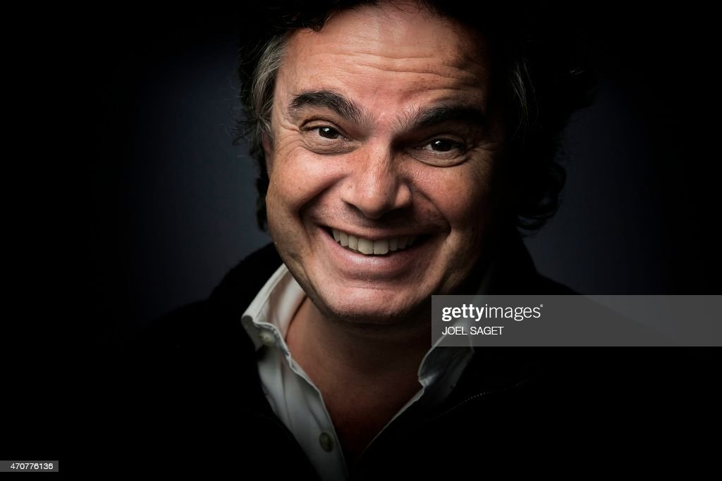 french writer alexandre jardin poses on april 20 2015 in