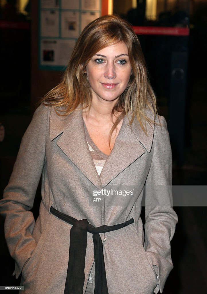 French writer Amanda Sthers arrives for a special event gathering artists and celebrities in support of French government plans to legalise gay marriage and same-sex adoption on January 27, 2013 in Paris, two days before parliament takes up the text, which has been met with strong opposition from the right and the Catholic Church.