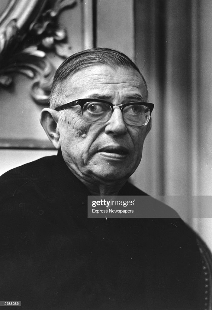 French writer and existentialist philosopher Jean-Paul Sartre (1905 - 1980).