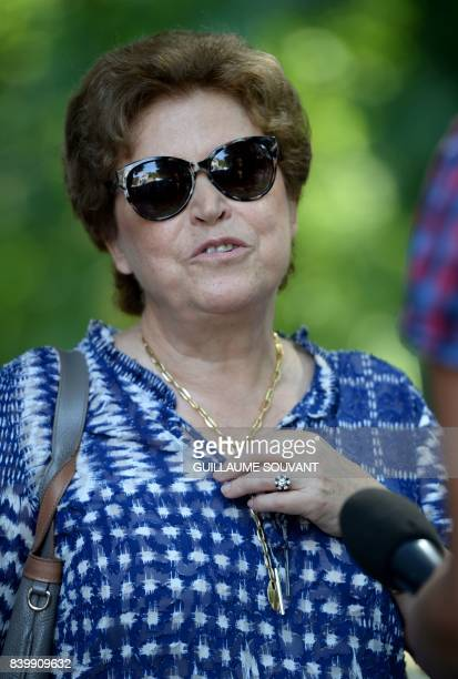 French writer and member of the Goncourt academy Francoise Chandernagor speaks during the 22th La Foret Des Livres book fair on August 27 2017 in...