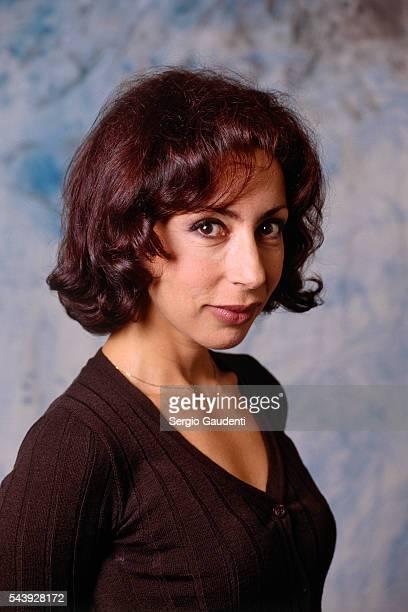 French writer and scriptwriter Yasmina Reza for television show 'Le gai savoir' on Paris Premiere
