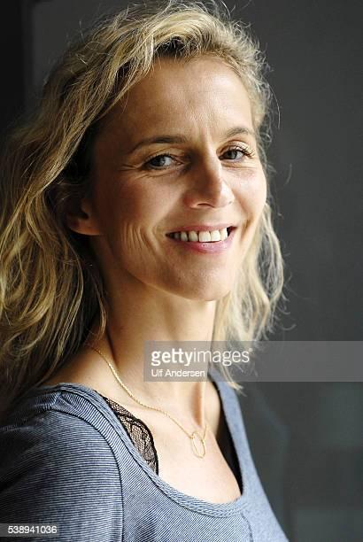 PARIS FRANCE JULY 25 French writer Delphine de Vigan poses during portrait session held on July 25 2011 in Paris France